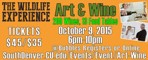Wildlife Art & Wine, Oct. 9, 2015
